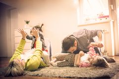 Young happy family. royalty free stock images