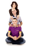 Young happy family with son Stock Photography