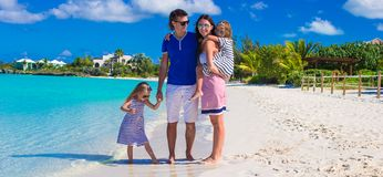 Young happy family during summer vacation Royalty Free Stock Photography