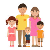 Young happy family. Young happy family, vector illustration Royalty Free Stock Photos