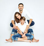 Young happy family Royalty Free Stock Images