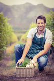 Young happy farmer looking at the camera Royalty Free Stock Photography