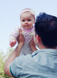Young happy father and daughter Royalty Free Stock Photography