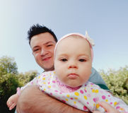 Young happy father and daughter Stock Photography