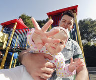 Young happy father and daughter Royalty Free Stock Image