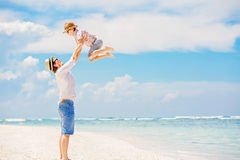 Young happy father playing with his little son Royalty Free Stock Image
