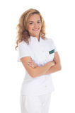 A young and happy female doctor Stock Images