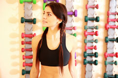 Young happy fit woman standing Royalty Free Stock Photo