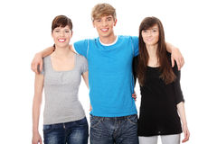 Young happy friends Stock Images