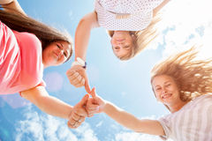 Young and happy friends oudoors Royalty Free Stock Image