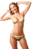 Young happy girl in bikini Royalty Free Stock Photo