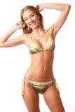 Young happy girl in bikini Royalty Free Stock Photo