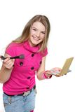 Young happy girl with make up Royalty Free Stock Images