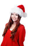 Young Happy Girl Smile with Christmas hat Royalty Free Stock Image
