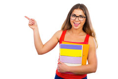 Young happy girl student Royalty Free Stock Photo