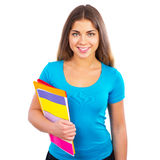 Young happy girl student Royalty Free Stock Photos