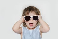 Young happy girl in sun glasses Royalty Free Stock Images