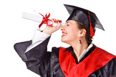 Young Happy Grad Looking Looking To The Future Royalty Free Stock Images