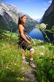 Young Happy Hiker norway Royalty Free Stock Photo