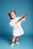 Young happy housewife with rolling pin Stock Photos