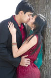 Young Happy Indian Couple Kissing Royalty Free Stock Images