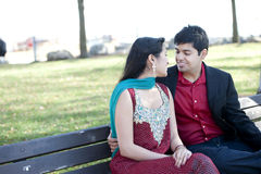Young Happy Indian Couple Royalty Free Stock Photo