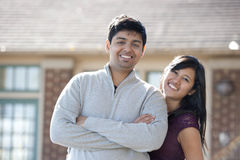 Young Happy Indian Couple Stock Image