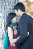 Young Happy Indian Man Kissing His Bride On The Stock Photography