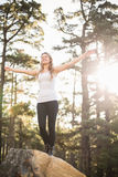Young happy jogger feeling free Royalty Free Stock Images