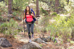 Young happy jogger hiking Royalty Free Stock Photos