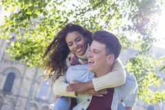 Young and Happy Lovers Royalty Free Stock Photo