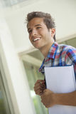 Young happy male student smiling Stock Image