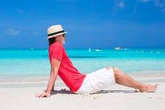 Young happy man enjoying summer vacation on Royalty Free Stock Image