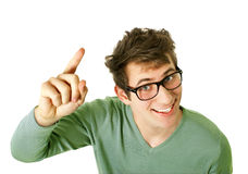 Young happy man with good idea Royalty Free Stock Images
