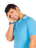 Young happy man posing Stock Image