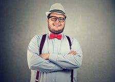 Stylish chunky man posing confidently royalty free stock photo