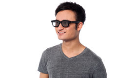 Young happy man wearing dark sunglasses Royalty Free Stock Photo