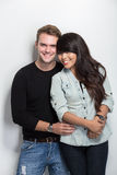 Young happy multicultural couple Stock Photography