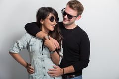 Young happy multicultural couple Stock Photo