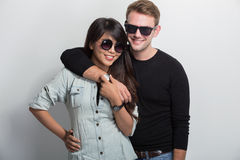 Young happy multicultural couple Stock Image