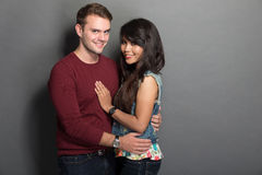 Young happy multicultural couple Stock Images