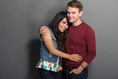 Young happy multicultural couple Royalty Free Stock Photography