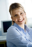 Young happy office worker Stock Photo