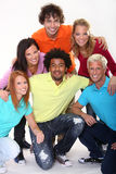 Young and happy people. Group of happy young people Royalty Free Stock Images