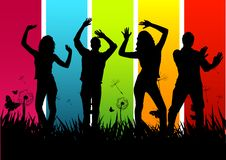 Young Happy People. Young People dancing and having fun Stock Image