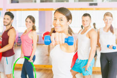 Young happy people lead a healthy lifestyle Stock Photo