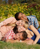 Young happy people outdoor Stock Photo