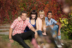 Young happy people outdoor Royalty Free Stock Images