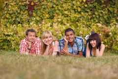 Young happy people outdoor Stock Photography