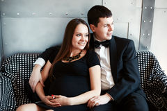 Young happy pregnant couple Stock Image